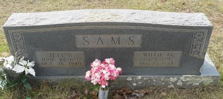 SAMS, JEFF B - Miller County, Arkansas | JEFF B SAMS - Arkansas Gravestone Photos