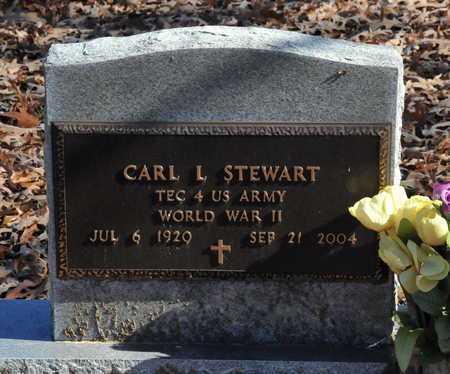 STEWART (VETERAN WWII), CARL L - Miller County, Arkansas   CARL L STEWART (VETERAN WWII) - Arkansas Gravestone Photos
