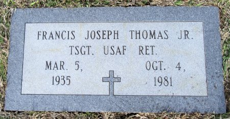 THOMAS, JR (VETERAN), FRANCIS JOSEPH - Miller County, Arkansas | FRANCIS JOSEPH THOMAS, JR (VETERAN) - Arkansas Gravestone Photos