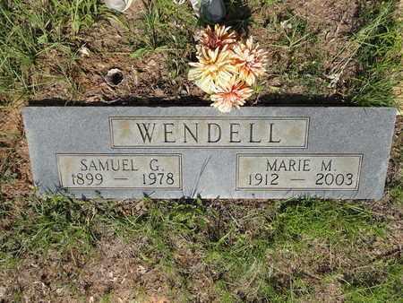 WENDELL, SAMUEL G - Miller County, Arkansas | SAMUEL G WENDELL - Arkansas Gravestone Photos