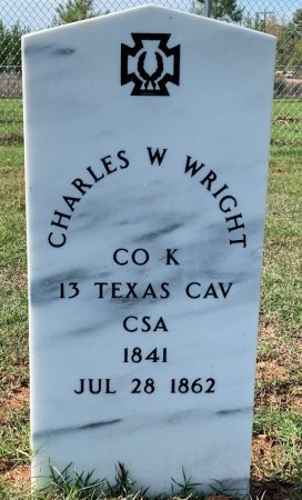 WRIGHT (VETERAN CSA), CHARLES W - Miller County, Arkansas   CHARLES W WRIGHT (VETERAN CSA) - Arkansas Gravestone Photos