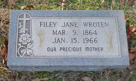 WROTEN, FILEY JANE - Miller County, Arkansas | FILEY JANE WROTEN - Arkansas Gravestone Photos