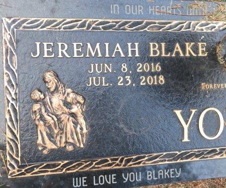 YOUNG, JEREMIAH BLAKE (CLOSEUP) - Miller County, Arkansas   JEREMIAH BLAKE (CLOSEUP) YOUNG - Arkansas Gravestone Photos