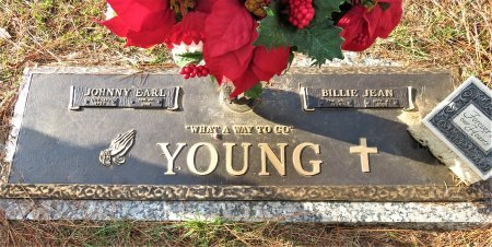 YOUNG, BILLIE JEAN - Miller County, Arkansas   BILLIE JEAN YOUNG - Arkansas Gravestone Photos