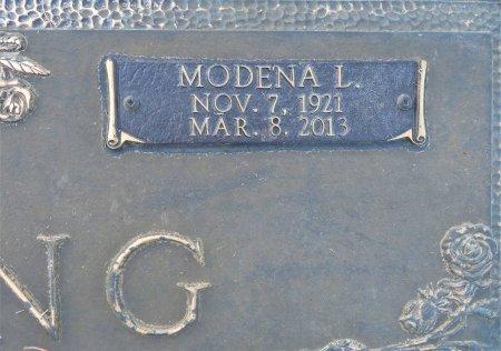 YOUNG, MODENA L. (CLOSEUP) - Miller County, Arkansas | MODENA L. (CLOSEUP) YOUNG - Arkansas Gravestone Photos