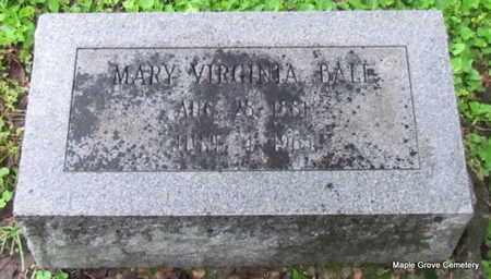 BALL, MARY VIRGINIA - Mississippi County, Arkansas | MARY VIRGINIA BALL - Arkansas Gravestone Photos
