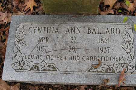 BALLARD, CYNTHIA ANN - Mississippi County, Arkansas | CYNTHIA ANN BALLARD - Arkansas Gravestone Photos