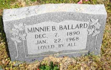 BALLARD, MINNIE B - Mississippi County, Arkansas | MINNIE B BALLARD - Arkansas Gravestone Photos