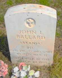 BALLARD (VETERAN WWII), JOHN L - Mississippi County, Arkansas | JOHN L BALLARD (VETERAN WWII) - Arkansas Gravestone Photos