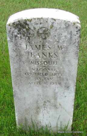 BANKS (VETERAN), JAMES W - Mississippi County, Arkansas | JAMES W BANKS (VETERAN) - Arkansas Gravestone Photos