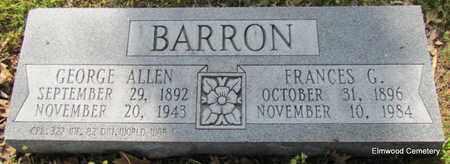 BARRON, FRANCES G - Mississippi County, Arkansas | FRANCES G BARRON - Arkansas Gravestone Photos