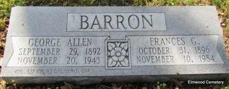 BARRON (VETERAN WWI), GEORGE ALLEN - Mississippi County, Arkansas | GEORGE ALLEN BARRON (VETERAN WWI) - Arkansas Gravestone Photos