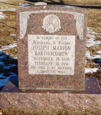 BARTHOLOMEW, JOESPH MARION - Mississippi County, Arkansas | JOESPH MARION BARTHOLOMEW - Arkansas Gravestone Photos