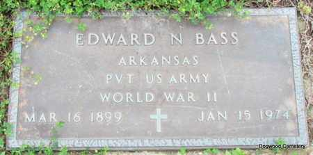 BASS (VETERAN WWII), EDWARD N - Mississippi County, Arkansas | EDWARD N BASS (VETERAN WWII) - Arkansas Gravestone Photos