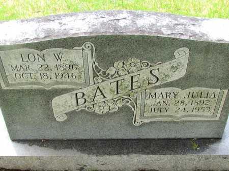 BATES, LON W - Mississippi County, Arkansas | LON W BATES - Arkansas Gravestone Photos