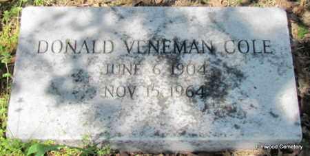 COLE, DONALD VENEMAN - Mississippi County, Arkansas | DONALD VENEMAN COLE - Arkansas Gravestone Photos