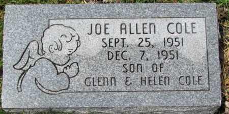 COLE, JOE ALLEN - Mississippi County, Arkansas | JOE ALLEN COLE - Arkansas Gravestone Photos