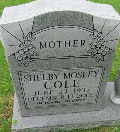 COLE, SHELBY - Mississippi County, Arkansas | SHELBY COLE - Arkansas Gravestone Photos