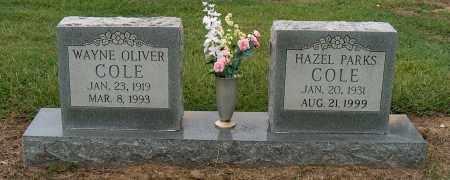 COLE, WAYNE OLIVER - Mississippi County, Arkansas | WAYNE OLIVER COLE - Arkansas Gravestone Photos