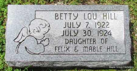HILL, BETTY LOU - Mississippi County, Arkansas | BETTY LOU HILL - Arkansas Gravestone Photos