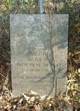 JUST A DOG, RASCAL - Mississippi County, Arkansas | RASCAL JUST A DOG - Arkansas Gravestone Photos