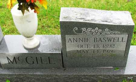 BASWELL MCGILL, ANNIE - Mississippi County, Arkansas   ANNIE BASWELL MCGILL - Arkansas Gravestone Photos