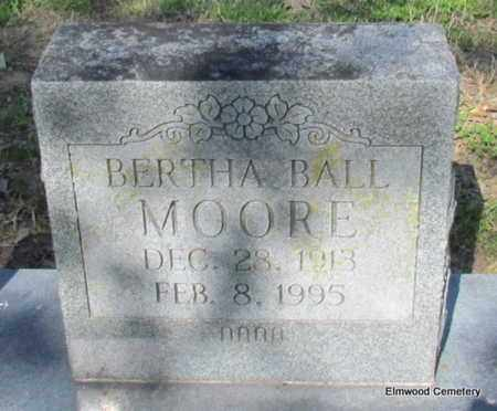 BALL MOORE, BERTHA (CLOSE UP) - Mississippi County, Arkansas | BERTHA (CLOSE UP) BALL MOORE - Arkansas Gravestone Photos