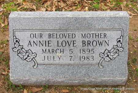 BROWN, ANNIE - Monroe County, Arkansas   ANNIE BROWN - Arkansas Gravestone Photos