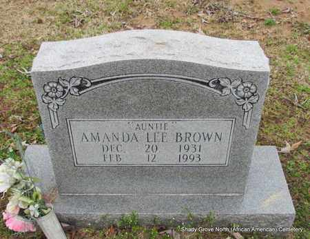 BROWN, AMANDA LEE - Monroe County, Arkansas | AMANDA LEE BROWN - Arkansas Gravestone Photos