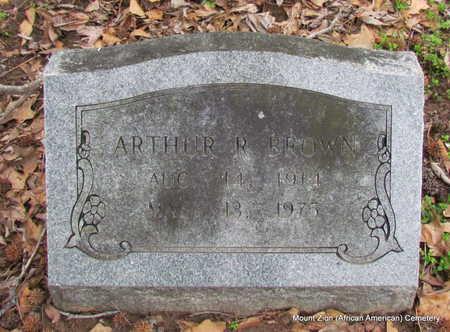 BROWN, ARTHUR R. - Monroe County, Arkansas | ARTHUR R. BROWN - Arkansas Gravestone Photos