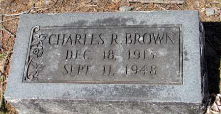 BROWN, CHARLES R - Monroe County, Arkansas   CHARLES R BROWN - Arkansas Gravestone Photos