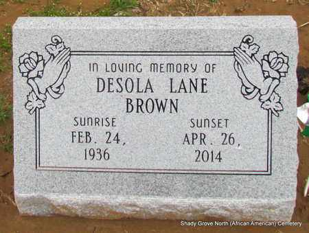 BROWN, DESOLA - Monroe County, Arkansas | DESOLA BROWN - Arkansas Gravestone Photos