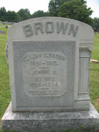 BROWN, JENNIE D - Monroe County, Arkansas | JENNIE D BROWN - Arkansas Gravestone Photos