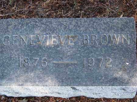 BROWN, GENEVIEVE - Monroe County, Arkansas | GENEVIEVE BROWN - Arkansas Gravestone Photos