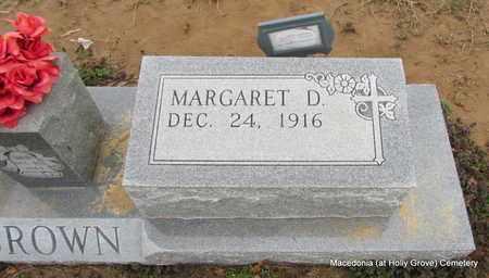 DIXON BROWN, MARGARET D (CLOSE UP) - Monroe County, Arkansas | MARGARET D (CLOSE UP) DIXON BROWN - Arkansas Gravestone Photos