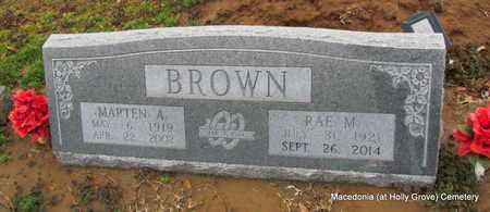 BROWN, RAE M - Monroe County, Arkansas | RAE M BROWN - Arkansas Gravestone Photos