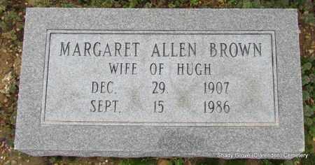 ALLEN BROWN, MARGARET - Monroe County, Arkansas | MARGARET ALLEN BROWN - Arkansas Gravestone Photos