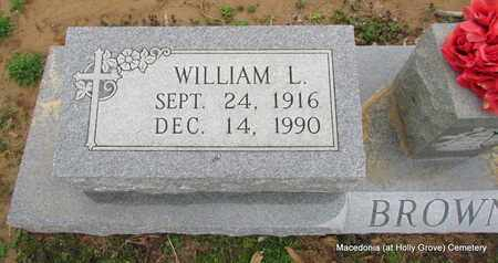 BROWN, WILLIAM L (CLOSE UP) - Monroe County, Arkansas | WILLIAM L (CLOSE UP) BROWN - Arkansas Gravestone Photos