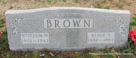 BROWN, WILLIAM W - Monroe County, Arkansas | WILLIAM W BROWN - Arkansas Gravestone Photos