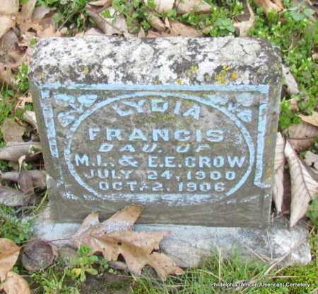 CROW, LYDIA FRANCIS - Monroe County, Arkansas   LYDIA FRANCIS CROW - Arkansas Gravestone Photos