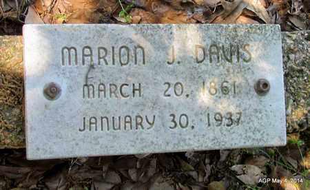DAVIS, MARION J - Monroe County, Arkansas | MARION J DAVIS - Arkansas Gravestone Photos