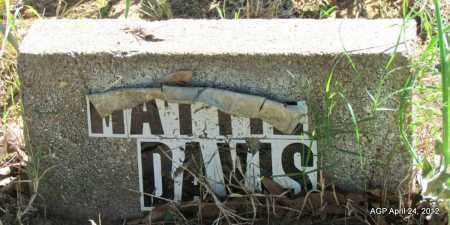 DAVIS, MATTIE - Monroe County, Arkansas | MATTIE DAVIS - Arkansas Gravestone Photos
