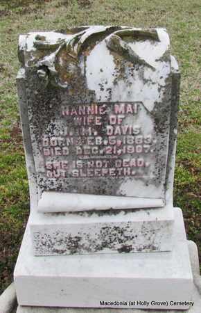 DAVIS, NANNIE MAI (CLOSE UP) - Monroe County, Arkansas | NANNIE MAI (CLOSE UP) DAVIS - Arkansas Gravestone Photos