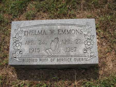 EMMONS, THELMA W - Monroe County, Arkansas | THELMA W EMMONS - Arkansas Gravestone Photos