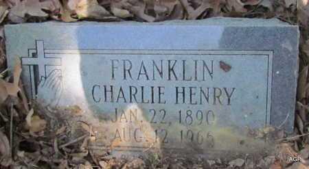 FRANKLIN, CHARLEY HENRY - Monroe County, Arkansas | CHARLEY HENRY FRANKLIN - Arkansas Gravestone Photos