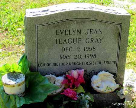 TEAGUE GRAY, EVELYN JEAN - Monroe County, Arkansas | EVELYN JEAN TEAGUE GRAY - Arkansas Gravestone Photos