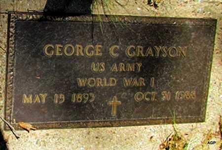 GRAYSON (VETERAN WWI), GEORGE C - Monroe County, Arkansas | GEORGE C GRAYSON (VETERAN WWI) - Arkansas Gravestone Photos