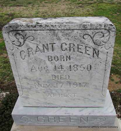 GREEN, GRANT - Monroe County, Arkansas   GRANT GREEN - Arkansas Gravestone Photos