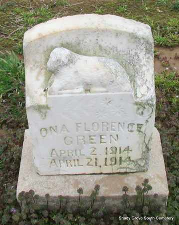 GREEN, ONA FLORENCE - Monroe County, Arkansas   ONA FLORENCE GREEN - Arkansas Gravestone Photos