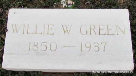 GREEN, WILLIE W - Monroe County, Arkansas   WILLIE W GREEN - Arkansas Gravestone Photos